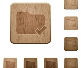 folder ok wooden icons