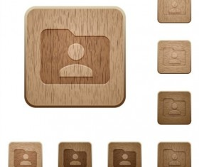 folder owner wooden icons vector