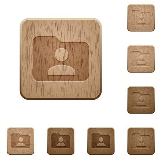 folder owner wooden icons vector