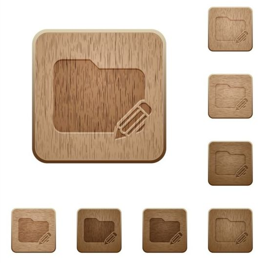 folder rename wooden icons