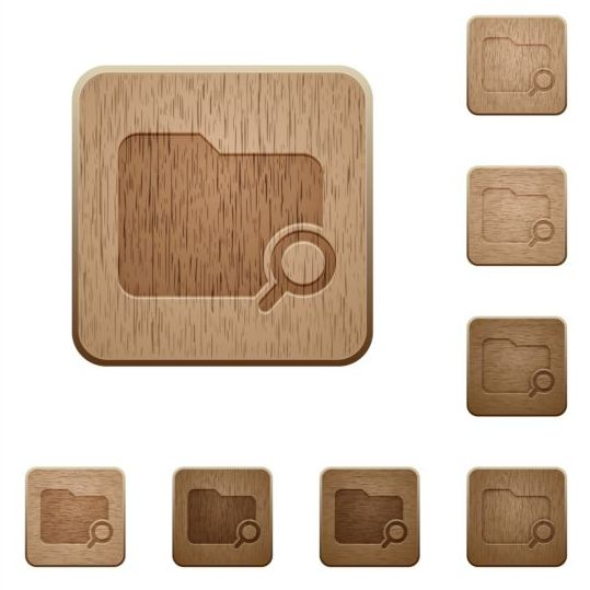 folder search wooden icons