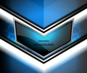geometric backgrounds blue vector