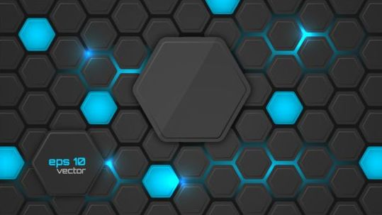 hexagon modern background vectors - Vector Background free download