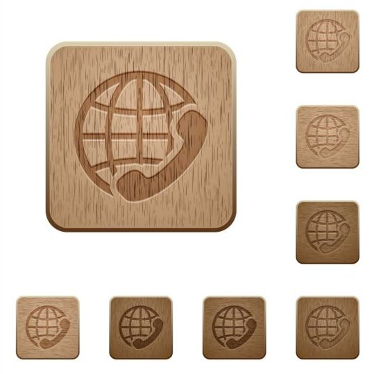 international call wooden icons