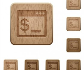 os terminal wooden icons set