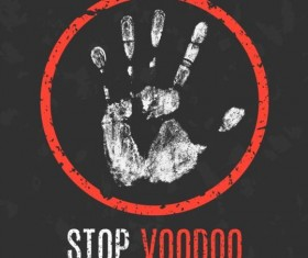 stop voodoo sign vector