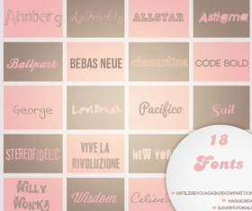 18 Kind Commonly used fonts set