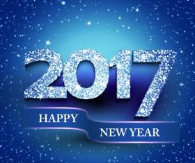 2017 new year diamond background vector