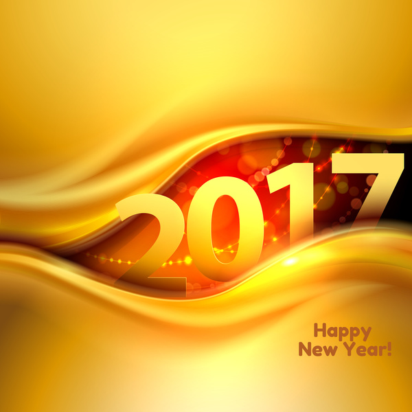 2017 new year gold abstractr background art vector 02