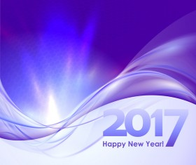 2017 new year purple abstract background vector 01