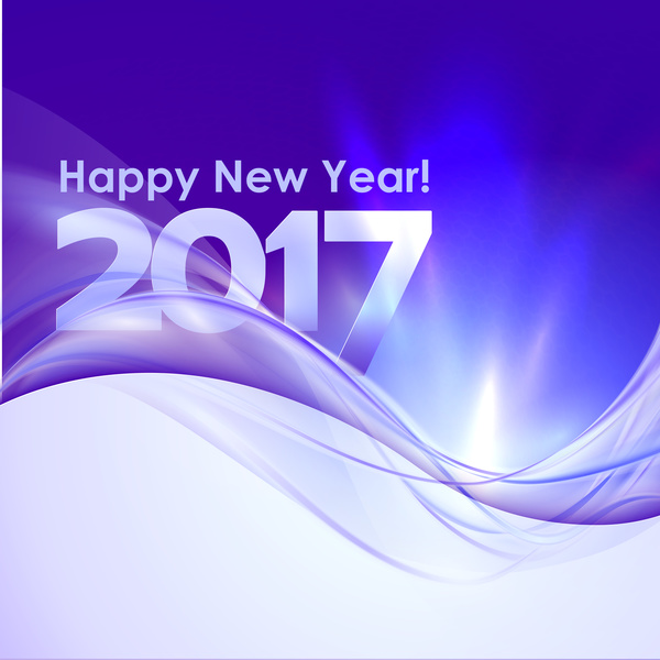 2017 new year purple abstract background vector 02