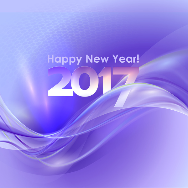 2017 new year purple abstract background vector 03