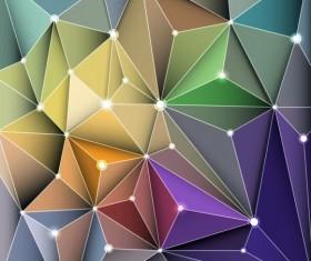 3D Geometric polygonal triangle pattern vector 01