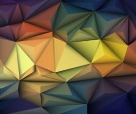 3D Geometric polygonal triangle pattern vector 03