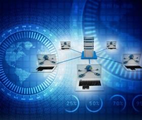 3dComputer Network Stock Photo 01