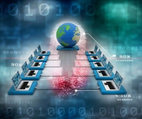 3dComputer Network Stock Photo 04