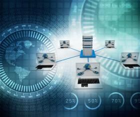 3dComputer Network Stock Photo 05