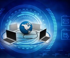 3dComputer Network Stock Photo 07
