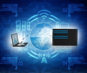 3dComputer Network Stock Photo 16