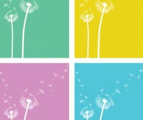 4 Kind dandelion vector illustration
