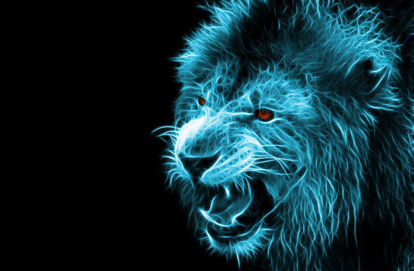 Abstract Artistic Lion And Black Background 04 Free Download