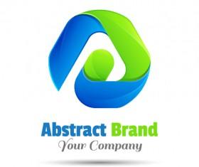 Abstract brand logo design vector