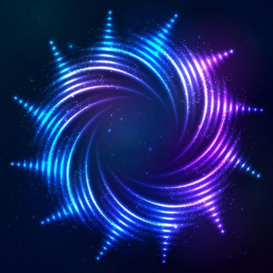 Abstract bright shining light circle vector 04