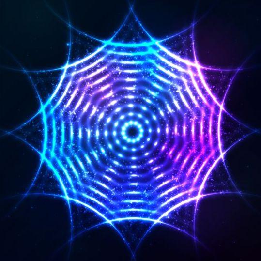 Abstract bright shining light circle vector 05