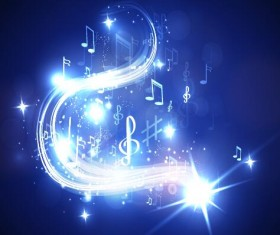Abstract music background blue style vector 04