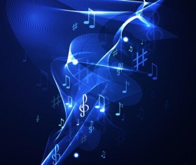 Abstract music background blue style vector 09