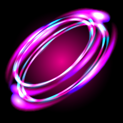 Abstract neon light effect vector illustration 01