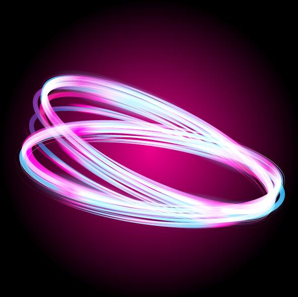 Abstract neon light effect vector illustration 05