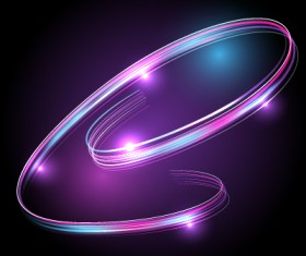 Abstract neon light effect vector illustration 27