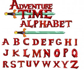 Adventure time alphabet PSD styles