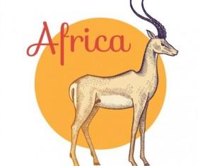 Africa antelope vector