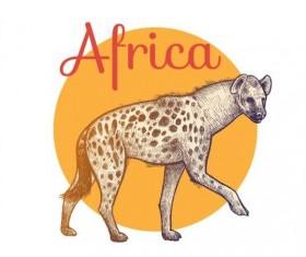 Africa hound vector