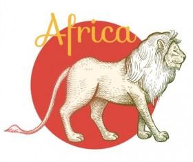 Africa lion vector