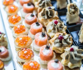 All kinds of delicious dessert snacks