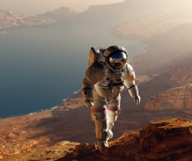 An astronaut who walks on the moon