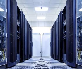 An interior shot of a data center