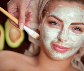 Apply a mask to do the skin care woman Stock Photo 01