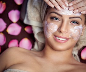 Apply a mask to do the skin care woman Stock Photo 03