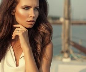 Beautiful woman Fashion art photo