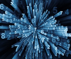 Black Background Computing Moving Digits Stock Photo 03