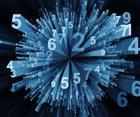 Black Background Computing Moving Digits Stock Photo 04