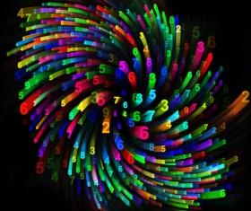 Black Background Multicolored computing mobile digital 02