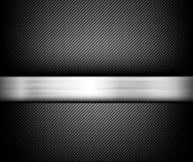 Black carbon fiber with polished metal vector background 01