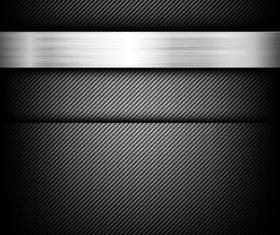 Black carbon fiber with polished metal vector background 02