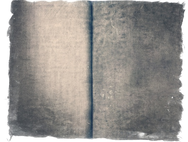 Blank pages of old wool book