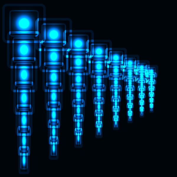 Blue neon art background vector 02